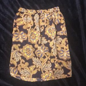 Loft paisley printed knee length skirt